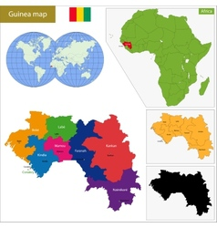 Guinea map vector