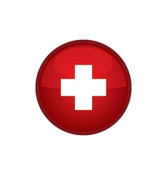 Switzerland flag button vector