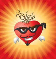 burglar heart vector image