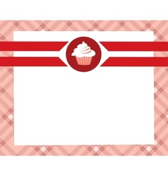 menu desert vector image