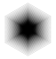 Halftone design elements hexagon vector