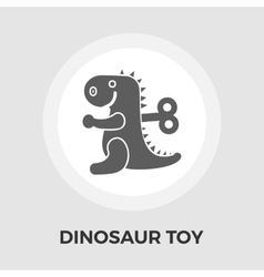 Dinosaur toy flat icon vector