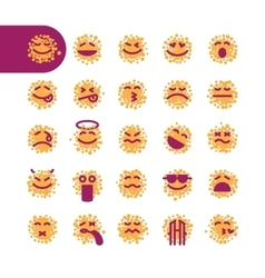 Set of spotty emoji emoticons vector