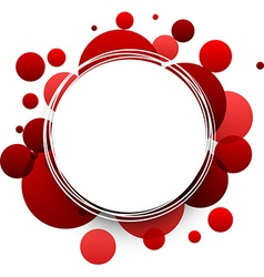 Round red background vector