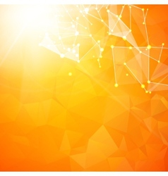 Abstract particles over orange vector image vector image