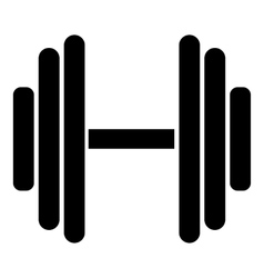 Big dumbbell icon simple style vector
