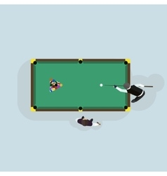 Billiards game table equipment vector image vector image