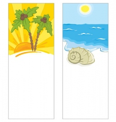 cards with the marine theme vector image vector image