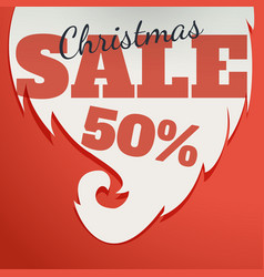 Design template christmas sale text for vector
