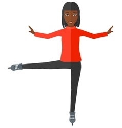 Female figure skater vector