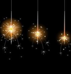 flame sparkler vector image vector image