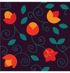 Flowers seamless pattern Bright colors elements vector image vector image