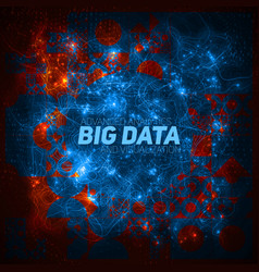 futuristic big data visualization cybernetic vector image