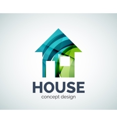 Home real estate logo template vector image vector image
