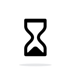 Hourglass ended icon on white background vector image vector image
