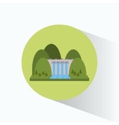 Hydroelectricity plant generator energy landscape vector