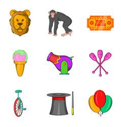 Memorable show icons set cartoon style vector