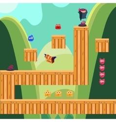 Mobile app game landscape computer games design vector