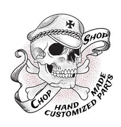 Old school biker shop emblem vector