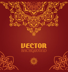 Ornamental arabesque lace background vector