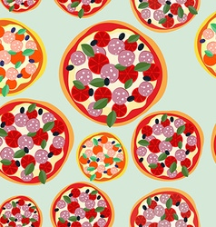 Pizza italy seamless pattern background food vector