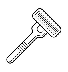 Razor bladed tool for shaving vector