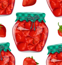 seamless texture with preserve strawberry vector image