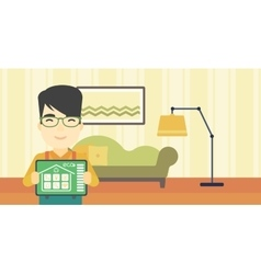 Smart home automation vector image