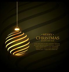 Stylish merry christmas festival greeting vector