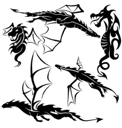 Tattoo Dragons vector image vector image