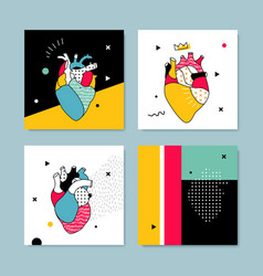The collection covers templates in pop style vector