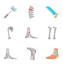 traumatology and orthopedics icons set vector image