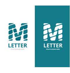 unique letter m logo design template vector image