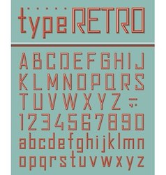 Retro style font vector image