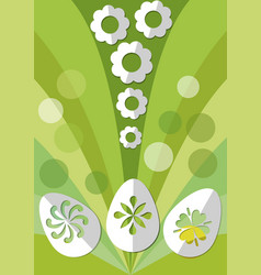 easter spring decoration with paper cut egg and vector image