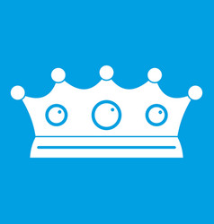 Jewelry crown icon white vector
