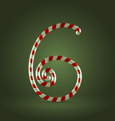 Candy cane abc 6 vector