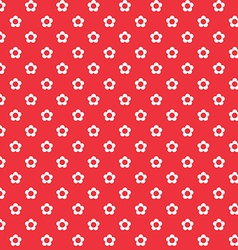Red background white flowers seamless pattern vector