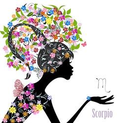 Zodiac sign scorpio fashion girl vector