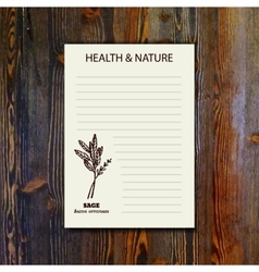 Health and nature collection vector