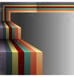 3d Retro abstract background vector image vector image
