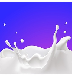 Splash of milk - with violet background vector