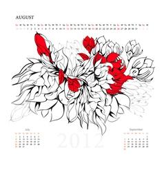 calendar for 2012 august vector image