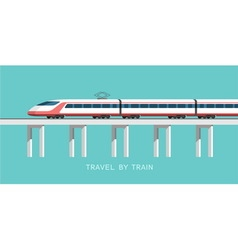 Travel by train vector