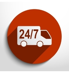 24 hour delivery web icon vector
