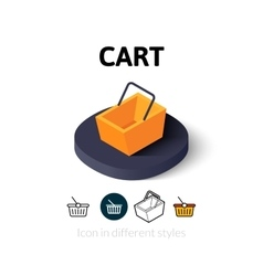 Cart icon in different style vector