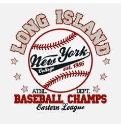 Baseball t-shirt vector image
