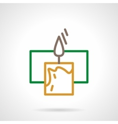Color line candle icon vector