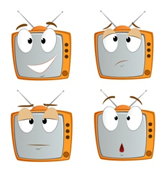 Cartoon tv vector