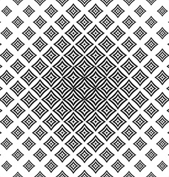 Monochrome seamless curved square pattern vector
